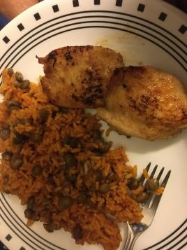 arroz con gandules and chicken