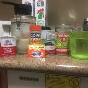 A variety of ingredients